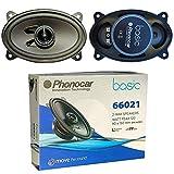2 Altavoces Compatible con PHONOCAR BASIC 66021 coaxial de 2 vías 4' x 6' 9,00 x 15,00 cm 90 x 150 mm 30 vatios rms 60 vatios máx 4 ohmios 90 db Negro, por par