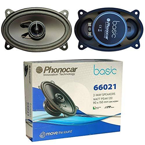 2 Altavoces Compatible con PHONOCAR BASIC 66021 coaxial de 2 vías 4