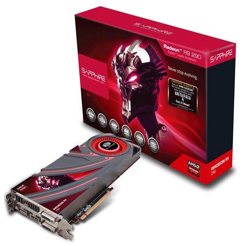 Sapphire 21227-00-50G R9 290 AMD Grafikkarte (PCI-e, 4GB, GDDR5 Speicher, DVI, 1 GPU)