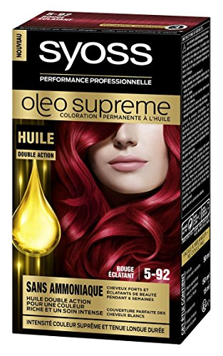 Syoss Oleo Supreme Permanente Haarfarbe, grelles Rot, 5-92