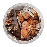Galletas de avena y chocolate, 4 unidades, pomos de cajón de aparador, pomos de cristal, tiradores de armario, tiradores de armario, para casa, oficina, gabinete de cocina
