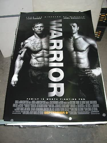 WARRIOR ORIG. U.S. ONE sold out SHEET MOVIE POSTER HARDY NOLT TOM Oakland Mall NICK
