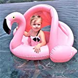 LWX Cangrejo Blanco Flamenco Infantil De Agua Inflable con Asiento De Bebé Hamaca Flotante En Fila Cama Flotante 83 * 65 * 50cm (Rosa, Blanco) Piscina (Color : Pink)