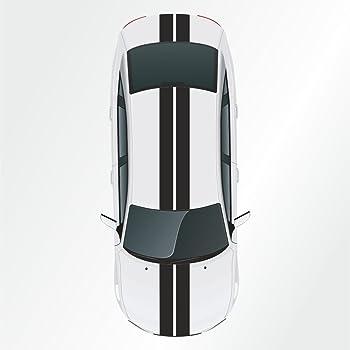 Indigos Ug Viperstreifen Matt Rennstreifen Aufkleber Rallystreifen Grau 400 Cm X 15 Cm Fürs Auto Glas Beschriftungen Tuning Carstyling Viper Racingstreifen Für Tuning Autorennen Motorrad Auto