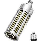 COMY Lampadine LED di Mais E27 100W Super Luminoso 10180LM, 800W Equivalenti a Incandescenza, Edison Lampadina a Candela con Adattatore E39, Non Dimmerabile,Pure White