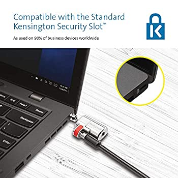 Kensington ClickSafe Câble de Sécurité pour Ordinateur Portable, Technologie Anti-Effraction, Verrou Robuste, Manipulation facile, 1,5m, K64637WW