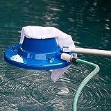 Swimming Pool Vacuum Head, Underwater Cleaner with Mesh Bag, Brush Head, Quick Hose