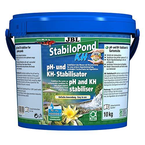JBL Stabilisateur du pH et de la KH pour Bassin de Jardin, Granulés pour Bassin de 100 000 L, StabiloPond KH, 10 kg