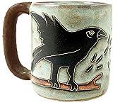 coffee cup bird - One (1) MARA STONEWARE COLLECTION - 16 Oz Coffee Cup Collectible Dinner Mug - Raven Bird Design