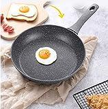Peakfeng Sartén Mil Milk Pan Hogar Maifan Piedra No Palmado Fritorio Sin Saca Cocina de Inducción Garra General General -20cm