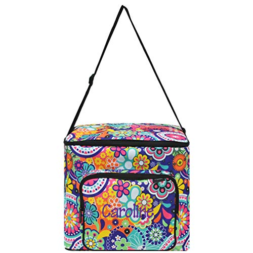 For Sale! Personalized Slow Cooker Insulated Carry Bag (Aqua Flowers)