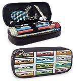 Étui à crayons 90S Collection de cassettes audio en plastique rétro bandes vieux thème de divertissement de technologie applicable fille garçon vert bleu