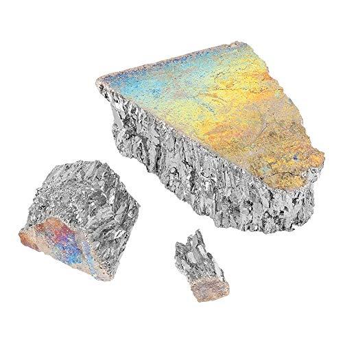 Wismut - 1000g Bismut Metal Barren Chunk 99,99% reine Kristallgeoden für die Herstellung von Kristallen/Angelköder