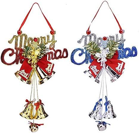 Himine Christmas Bell Christmas Tree Pendant Christmas Decoration Pendant Gold+Angel