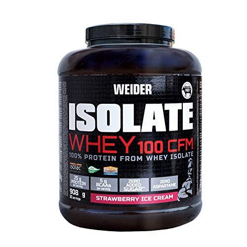 Weider 100 CFM Isolate Whey Protein, Strawberry Ice Cream, 908 g