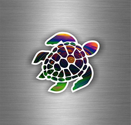 Akachafactory Selbstklebend Auto Motorrad Sticker Tuning Schildkröte Tribal Turtle von Meer JDM Bomb