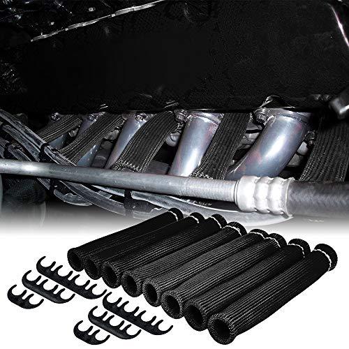 AeroBon Motor Zündkerze Hitzeschild Schutz Kit Anzug für 6mm 7mm 8mm 9mm (Schwarz)