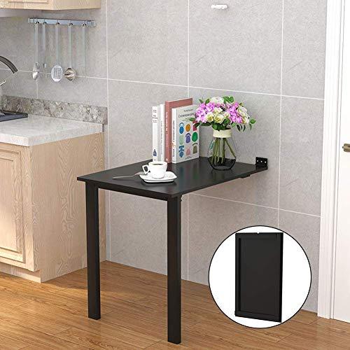 Pkfinrd WC-bril, verkrijgbaar in drie kleuren naar de muur, inklapbaar, voor kantoor, voor eten, zwemmend, laptop, kantoor, bespaart ruimte voor school 100*60*75cm Zwart
