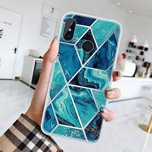 Yoodi Capa para Xiaomi Mi A2 Lite, capa para Redmi 6 Pro, capa ultrafina [design de mármor] pele de gel de silicone TPU macio leve, capa protetora flexível à prova de choque - cor 05