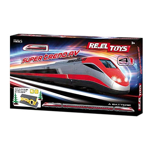 RE.ELTOYS Pista Super Treno AV con Accessori