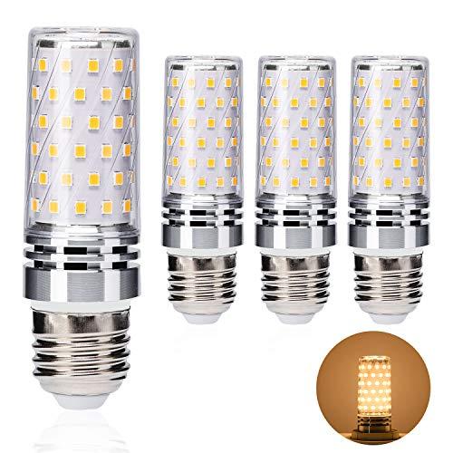 E27 LED Warmweiss 8W LED E27 Glühbirne Ersetzt 60W-100W Glühlampe Mais Lampe 800lm, E27 LED Maiskolben Birnen Warmweiß 3000K, No Flicker,AC 220V-240V, 360° Abstrahwinkel, Nicht Dimmbar - 4er Pack