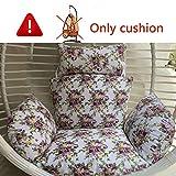 MonthYue Swing Appeso Cuscini, Senza Supporto Cuscino per Sedia Nido D'uccello Swing Seat Sedile Imbottito Antiscivolo per Garden Cradle,D