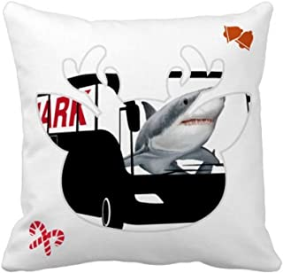 OFFbb-USA Shark Ocean Bus - Funda cuadrada para almohada