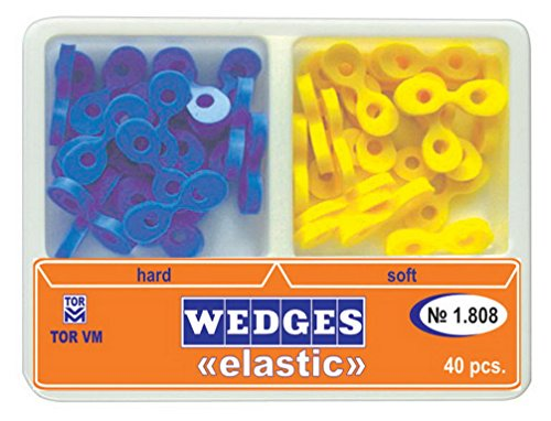Zubastick Dental Elastic Fixing Wedges Matrix Matrices Rubber Composite 40pcs