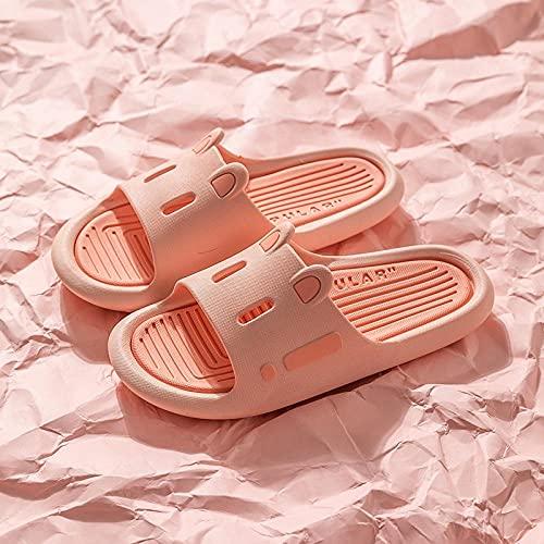 ZZLHHD Hombre Baño Sandalias,Zapatillas caladas.Zapatillas de baño de Verano para el hogar, Powder_44-45,Zapatillas Pantuflas Playa Hombre y Mujer,
