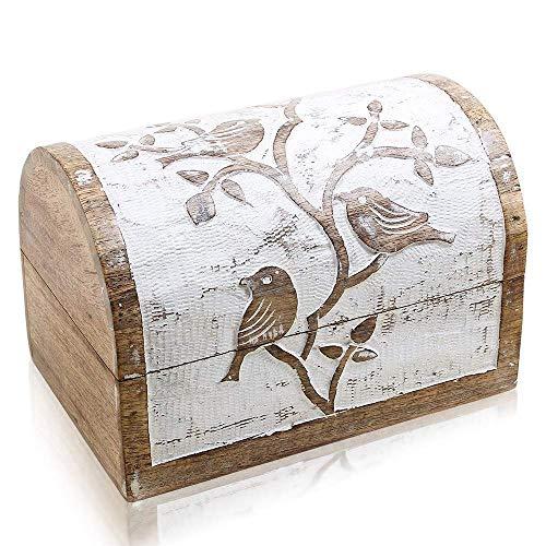 Joyero de madera hecho a mano para regalo de cumpleaños,