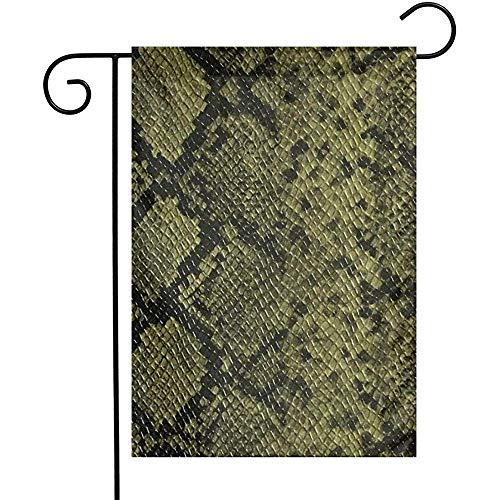 Yard Banner Snake Skin Animal Print Lederen Tuinvlaggen Thuis Binnen Outdoor Vakantietuin Banner Decoraties Spel Familie Tweezijdig Decoratieve Partij