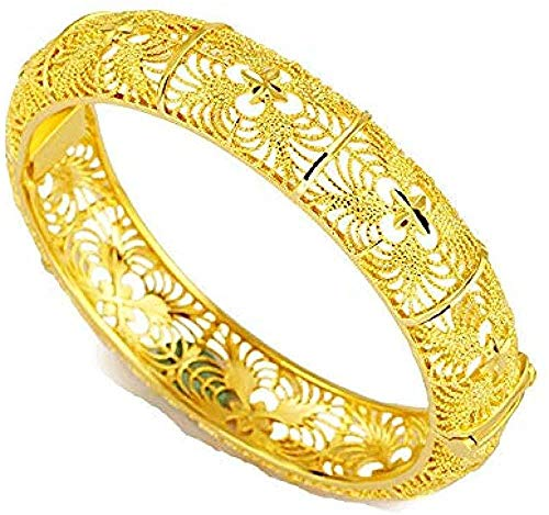 Pulsera Collar 24K Dubai Brazaletes de oro para mujer Oro Dubai Novia Boda Pulsera etíope África Brazalete Joyería árabe Encanto de oro Pulsera para niños Pulsera para mujer para hombre Brazalete para