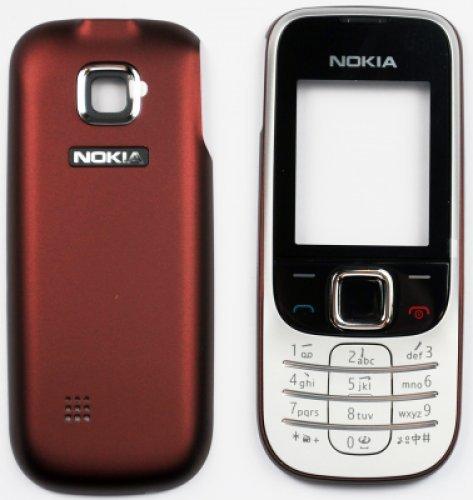 Guscio per Nokia 2330 Red (Front+B.C.+Keypad) (Original)