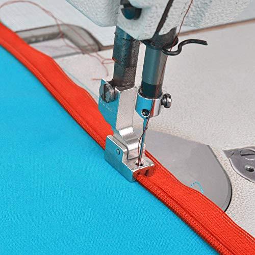 Landia Prensatelas para máquina de Coser Industrial prensatelas para Cremallera S518N Usado para JUKI DDL-5550, 8300, 8700, 555, 227 6# S518N 7yj77