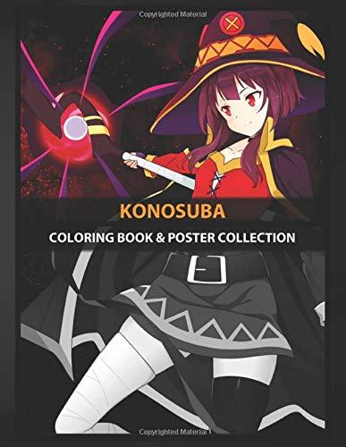 Coloring Book & Poster Collection: Konosuba Megumin Is One Of The Main Characters Of The Konosuba Anime & Manga