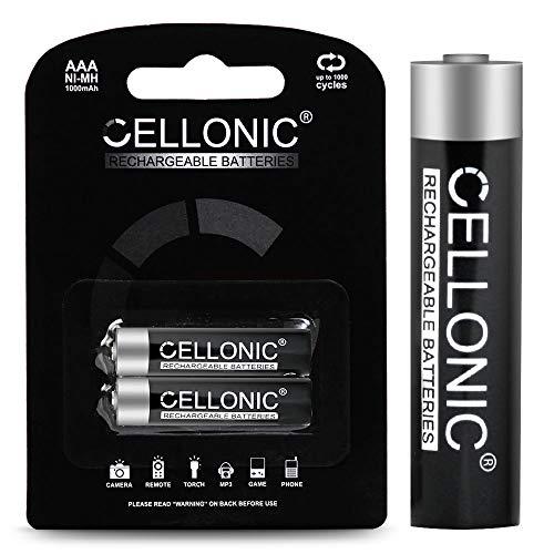 CELLONIC® Qualitäts Akku kompatibel mit Telekom Sinus CA37 / A207 / 207 / A206 / 301 / A406 / 205 / A503i / A806 / Speedphone 10/11 / 12/30 / 31/51, 2x1000mAh Ersatzakku Batterie