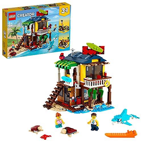 LEGO31118Creator3 en 1CasaSurferaenlaPlaya, SetdeConstrucciónconFaroyCasadeVeranoconPiscina