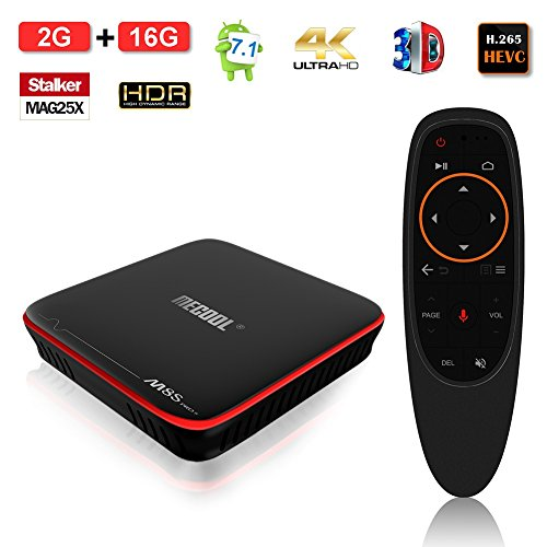 ESHOWEE M8S PRO Voice Control TV Box Android 7.1 Amlogic S905W Quad-core 64 Bit DDR3 2GB RAM 16GB ROM 2.4 WiFi 4K UHD