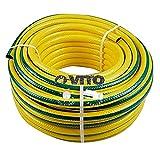 VITO Garden 100 m PVC Gartenschlauch 19mm   3/4' flexibel 30 bar Berstdruck, UV beständig - Wasserschlauch 19 mm (3/4 Zoll) (100m 3/4' 30Bar)