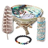 White Sage Smudging Kit Smudge Stick Gift Kit + Instructions & Blessings (Beginner's Kit)