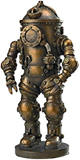 Design Toscano Tritonia Atmospheric Diving Suit Steampunk Statue, Antique Brass