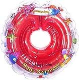 Infant Natación Flotador Inflable Anillo de Seguridad Inflable de Piscina Nadar 6-36 Meses (Rojo)