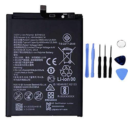 Ellenne Batería compatible con Huawei P20 Pro, Mate 20, Mate 10 Pro, Mate 10 HB436486ECW, alta capacidad, 4000 mAh, con kit de desmontaje incluido