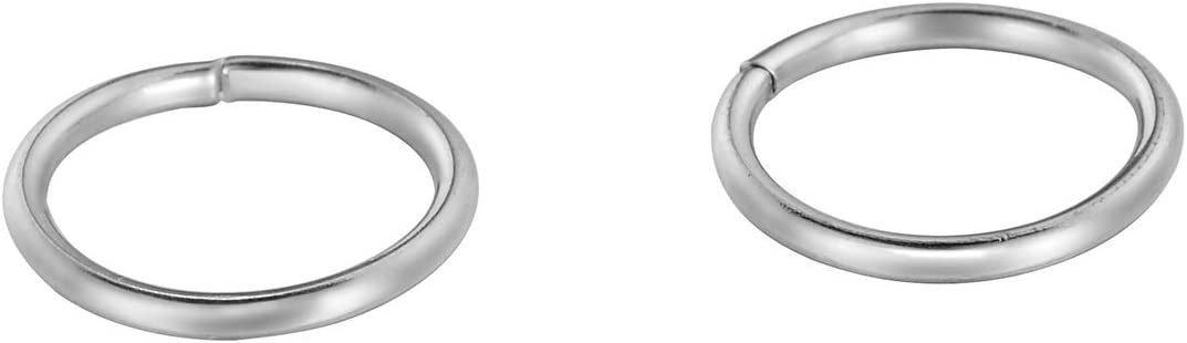 VALYRIA 500pcs Silver Tone Stainless Steel Conect Ring Topics on TV 2021 autumn and winter new Open Jump