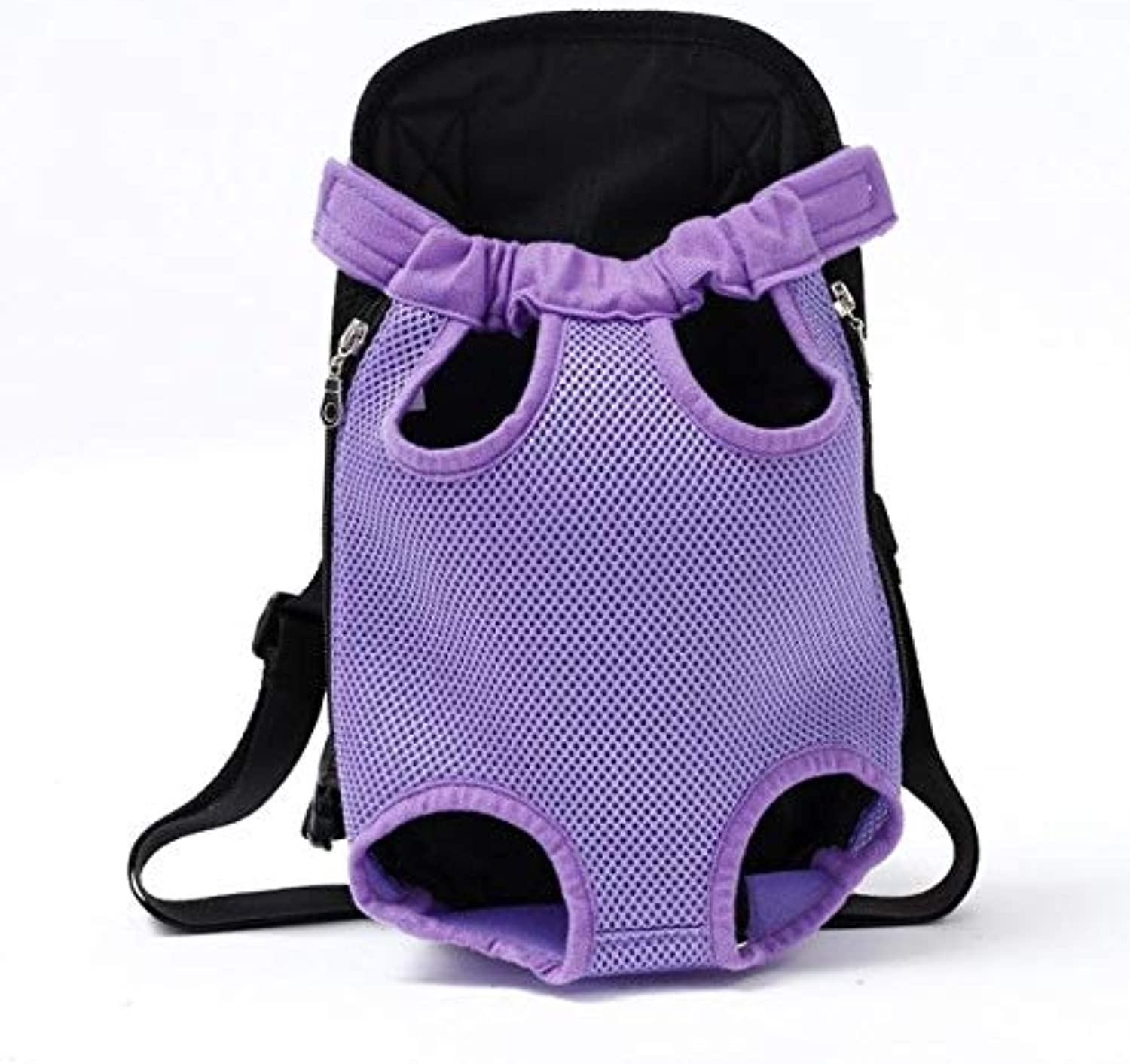 Pnizun  Dog Carriers Fashion Red color Travel Dog Bag Backpack Breathable Pet Bag Pet Puppy Carrier [Purple XL for 710kg]
