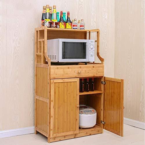 XIAOLIN meerlagige boekenkast massief hout boekenplank Plaid Locker kruidenrek met lade verkrijgbaar in drie maten