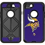 Skinit Decal Skin Compatible with OtterBox Defender iPhone 7 - Officially Licensed NFL Minnesota Vikings Retro Logo Design