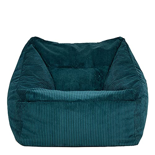 icon Soul Morgan Cord Bean Bag Lounge Chair, Giant Jumbo Cord Snuggle Seat, Living Room Bean Bags for Adults