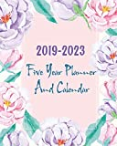 2019-2023 Five Year Planner And Calendar: Watercolor Purple Floral Cover, 60 Months Calendar Planner Monthly Schedule Organizer  Agenda with Holidays