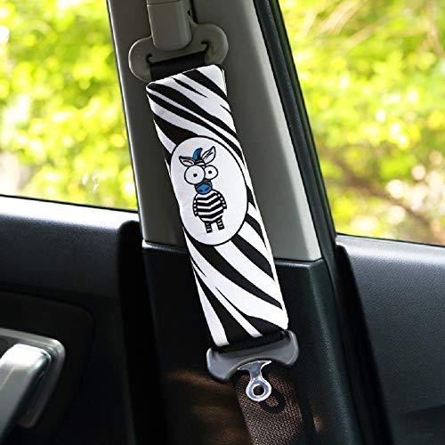 PUSHIDE 2PCS Almohadillas para cinturón de seguridad Auto de seguridad Cinturón Correa para el hombro Protector Pads (Zebra)